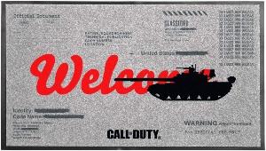 Alfombra de Call of Duty con bordes rectangulares