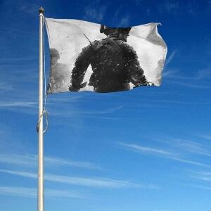 Bandera de Call of Duty en un mastil