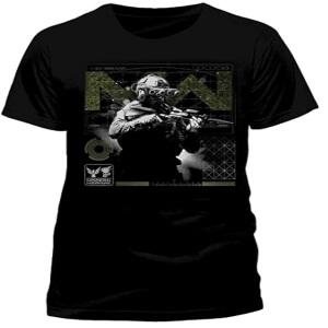 Camiseta combatiente con arma Call of Duty manga corta
