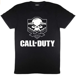 Camiseta de Call of Duty con una calavera