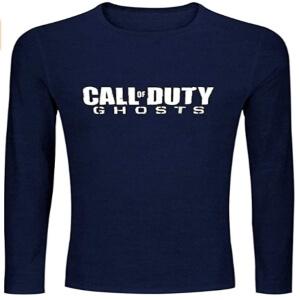 Camiseta letras Call of Duty Ghosts manga larga