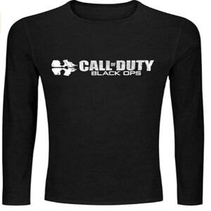 Camiseta logotipo Call of Duty Black Ops manga larga