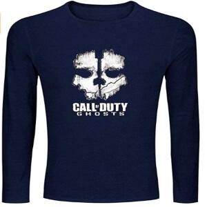 Camiseta logotipo Call of Duty Ghosts manga larga