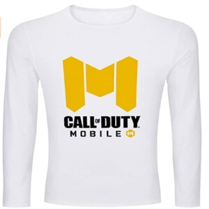 Camiseta logotipo Call of Duty Mobile manga larga