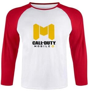 Camiseta logotipo Call of Duty Mobile rojo manga larga