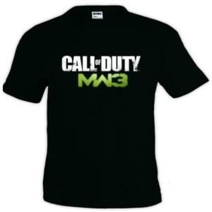 Camiseta logotipo Call of Duty Modern Warfare 3 manga corta
