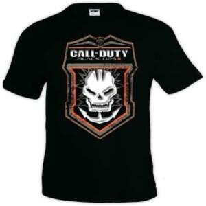 Camiseta logotipo rando Call of Duty Black Ops 2 manga corta