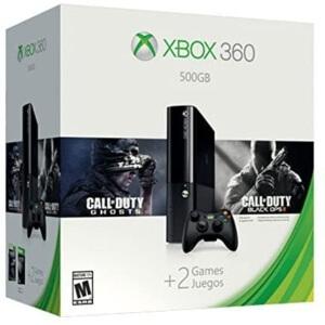 Consola Xbox 360 con diferentes juegos de Call of Duty