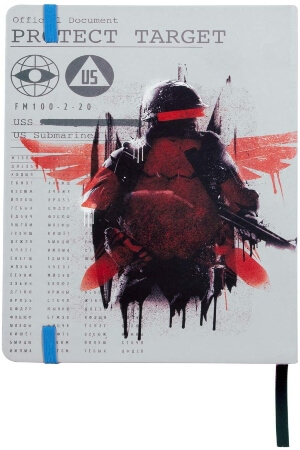 Cuaderno Call of Duty Cold War american soldier parte trasera