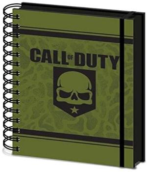 Cuaderno de Call of Duty con cubierta verde