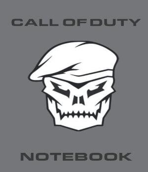 Cuaderno personaje con boina de Call of Duty