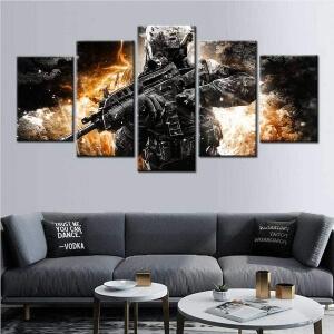 Cuadros de Call of Duty en el salon