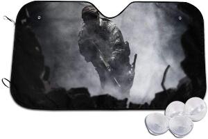 Cubierta para parabrisas soldado de Call of Duty con ventosas