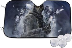 Cubierta para parabrisas tres soldados de Call of Duty con ventosas