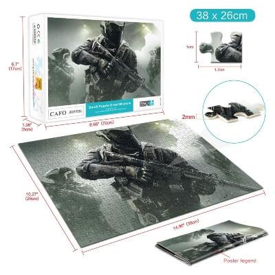 Diferentes partes del puzzle de Call of Duty