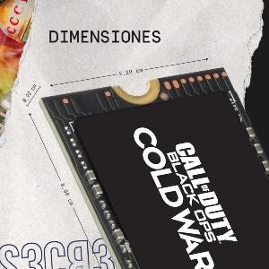 Dimensiones disco duro 1 TB de Call of Duty