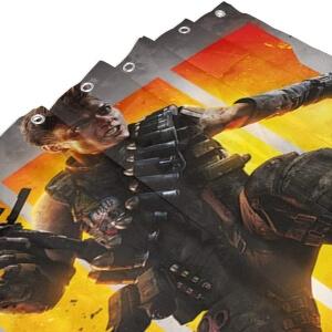 Huecos de los ganchos de las cortinas de ducha de Call of Duty