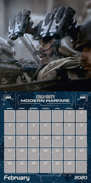 Interior de los calendarios Call of Duty