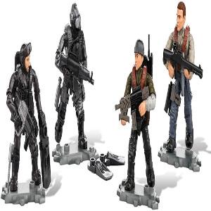 Juguete cuatro personajes con accesorios Call of Duty