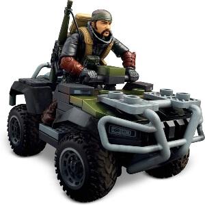 Juguete personaje con quad Call of Duty