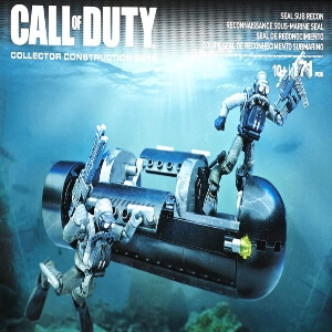 Juguete personajes con submarino Call of Duty