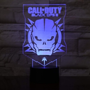 Lampara con base y luces LED Call of Duty