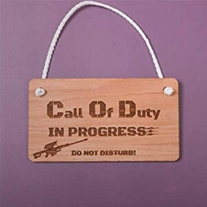 Letrero Call of Duty in progress de Call of Duty