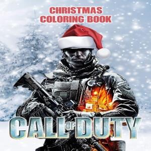 Libro para pintar combatiente Call of Duty navidad