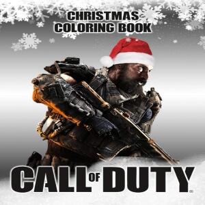 Libro para pintar personaje Call of Duty con gorro navidad