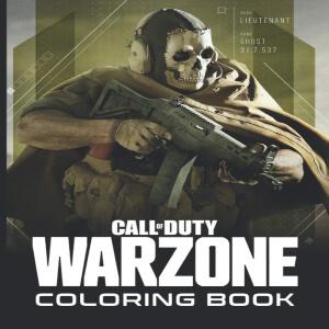 Libro para pintar personaje con mascara Call of Duty Warzone