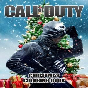 Libro para pintar personaje de Call of Duty con arbol de navidad