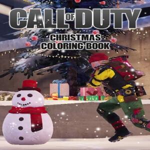 Libro para pintar personaje navidad Call of Duty
