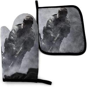 Manoplas y soportes para ollas soldado de Call of Duty