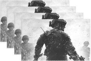 Mantel soldado de espaldas Call of Duty