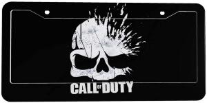 Marco de matricula logotipo de Call of Duty