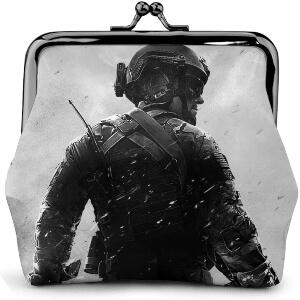 Monedero soldado con casco de Call of Duty