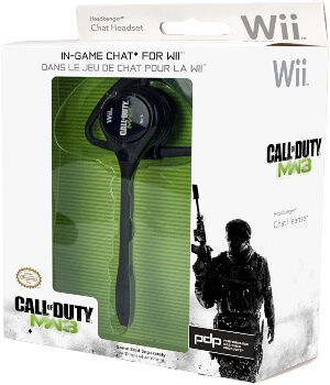 Packaging de los auriculares bluetooth de Call of Duty para Wii