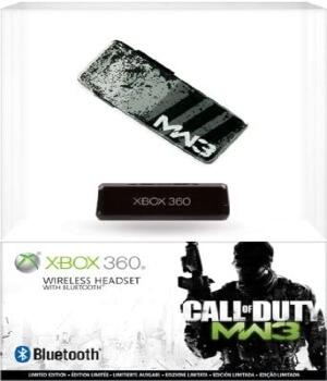 Packaging de los auriculares bluetooth de Call of Duty para Xbox 360