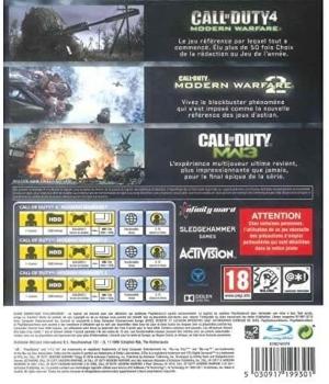 Parte trasera de la trilogia del Call of Duty Modern Warfare