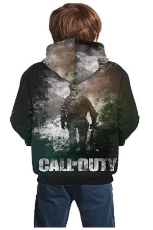 Parte trasera sudadera de Call of Duty para niños