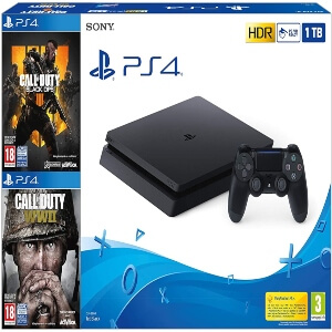 Playstation 4 con juegos de diferentes sagas de Call of Duty