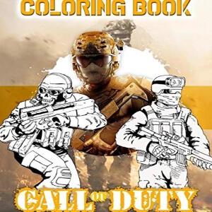 Portada del libro para pintar de Call of Duty