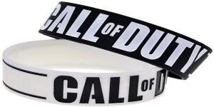 Pulsera negra y blanca Call of Duty