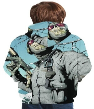 Sudadera combatiente con mascara Call of Duty para niños