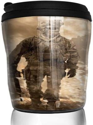 Taza con tapa soldado de Call of Duty